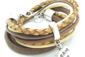 wikkelarmband bruin