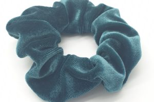 scrunchie velours groen