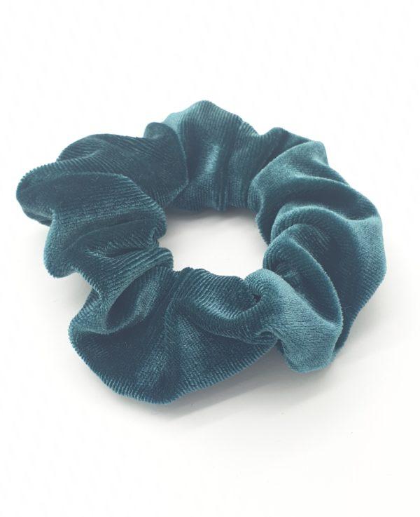 scrunchie velours groen