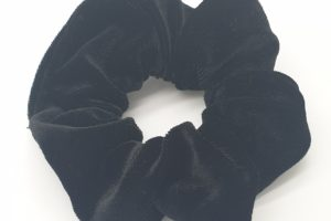 scrunchie zwart velours