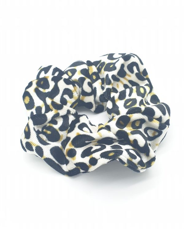 scrunchie velours luipaard