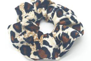 scrunchie velours tijger