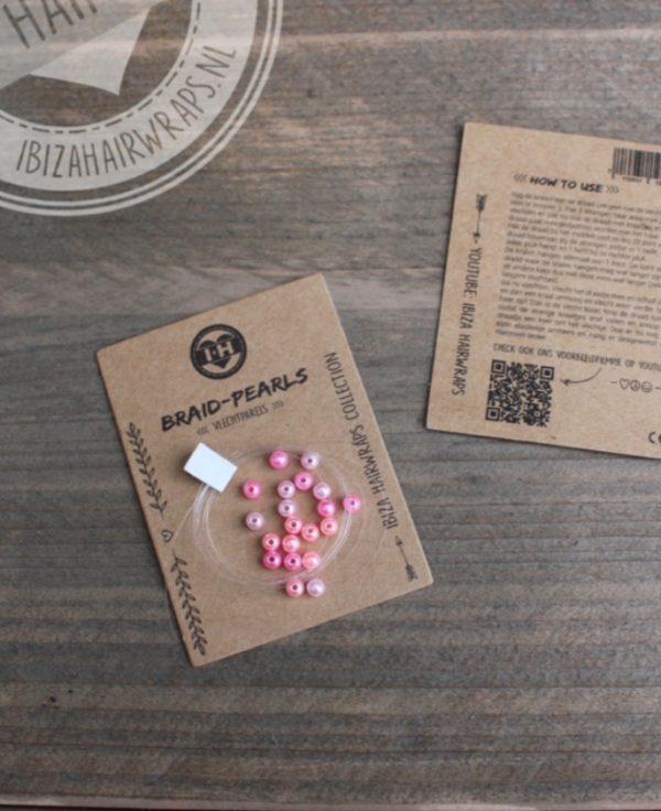 vlechtparels roze