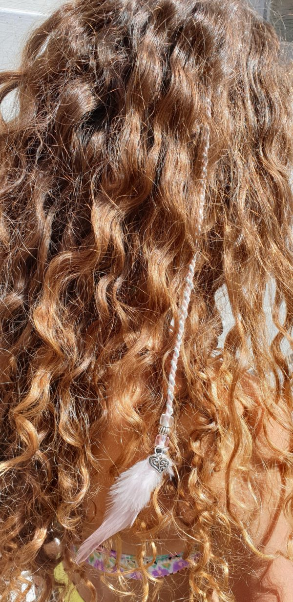 Ibiza hairwrap wit met clip