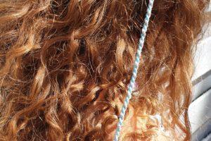 Ibiza Hairwrap lichtblauw met clip