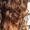 ibiza hairwrap blauw met clip