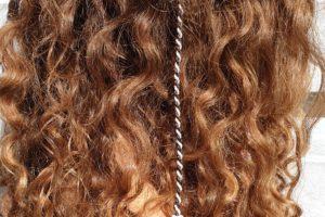 ibiza hairwrap bruin met clip