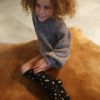 kinder kniekousen luipaard zwart 5 tot 10 jaar