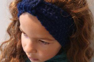 oorwarmer kind donkerblauw