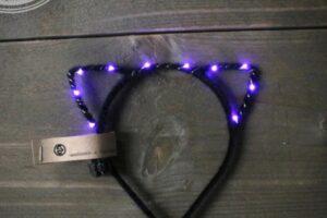 led diadeem zwart/paars