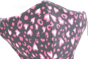 mondkapje pink leopard