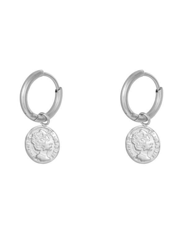 oorbellen ancient coin