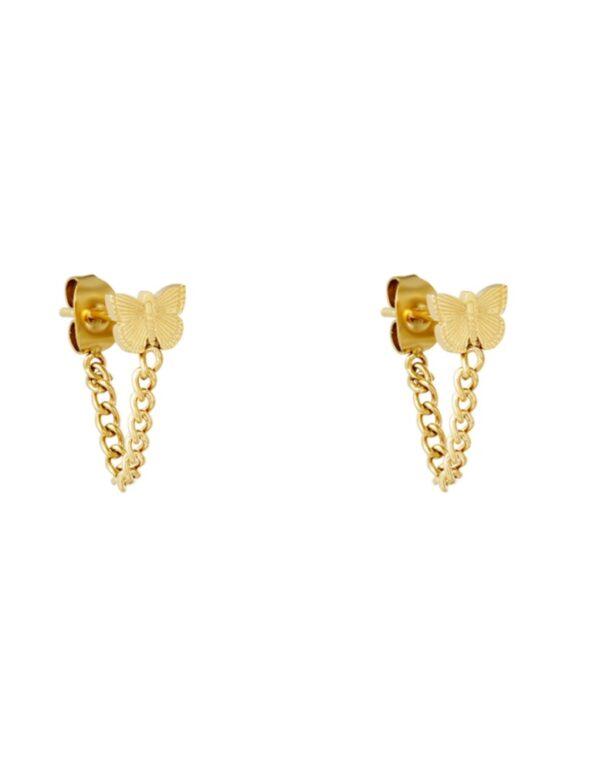 oorbellen vlinder goud